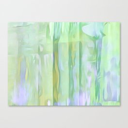 Cool Waves Of Color Abstract Canvas Print