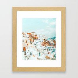 Travelers || #photography #greece Framed Art Print