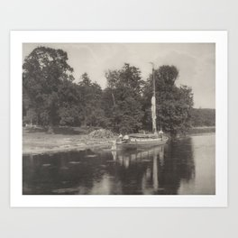 Peter Henry Emerson (1856-1936) River Bure at Coltishall, from Life and Landscape on the Norfolk Bro Art Print