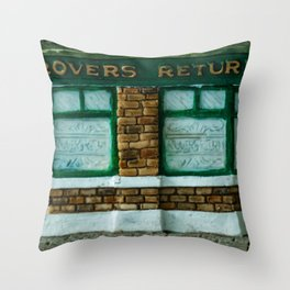 Rovers Return, Coronation Street in Miniature Throw Pillow