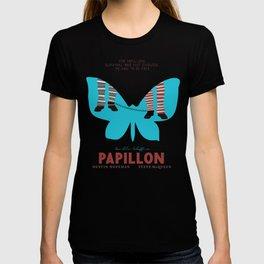 Papillon, Steve McQueen vintage movie poster, retrò playbill, Dustin Hoffman, hollywood film T-shirt