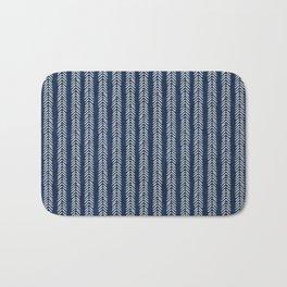 Mud cloth - Navy Arrowheads Bath Mat