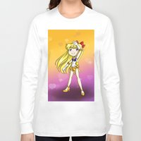 sailor venus Long Sleeve T-shirts featuring Sailor Venus by Thedustyphoenix