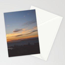 Sunset over Mana Island New Zealand Stationery Cards