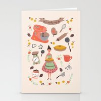 cooking Stationery Cards featuring Cooking some cookies by Epoque Graphics
