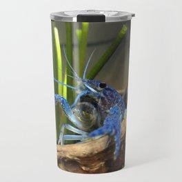 Blue crayfish Travel Mug