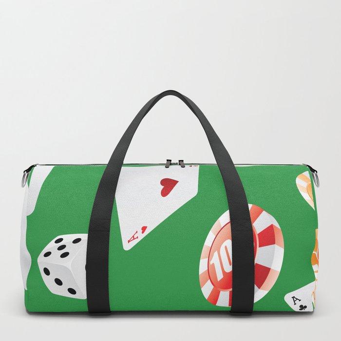 #casino #games #accessories #pattern 4 Duffle Bag