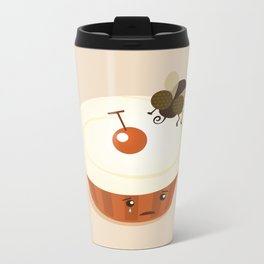 Fly on a Cupcake Metal Travel Mug