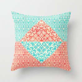 Retro Optical Fantasia Throw Pillow