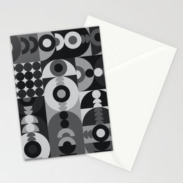 Geometry Games V / Black Palette Stationery Cards