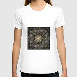 Bohemian Gold Brushed Mandala design T-shirt