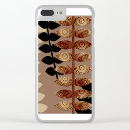 Patterned Vines Clear iPhone Case