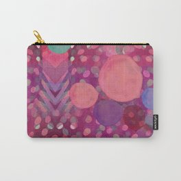 """Abstract polka dots in pink and pastel colors"" Carry-All Pouch"