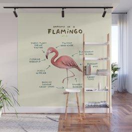 Anatomy of a Flamingo Wall Mural