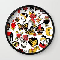 flash Wall Clocks featuring Flash by Aurora Moreno Pavón