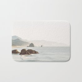 overlooking cannon beach Bath Mat