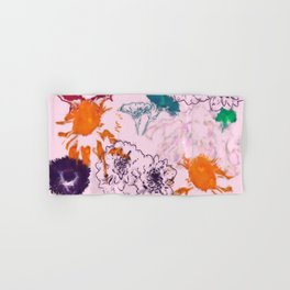 fall floral pink Hand & Bath Towel
