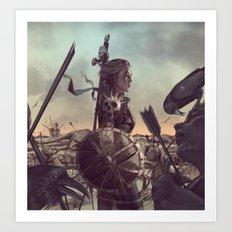 Warrior 6 Battlefield Color Art Print
