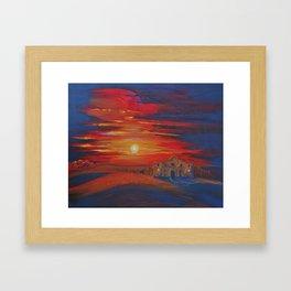 Alamo Sunset Framed Art Print
