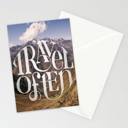 Travel to the Mountains Stationery Cards