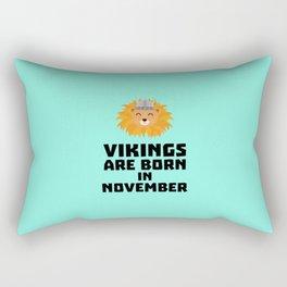 Vikings are born in November T-Shirt Dur82 Rectangular Pillow
