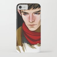 merlin iPhone & iPod Cases featuring Merlin by MJ Erickson