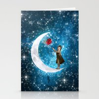 little prince Stationery Cards featuring The Little Prince by Diogo Verissimo