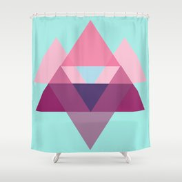 a triangular pattern Shower Curtain
