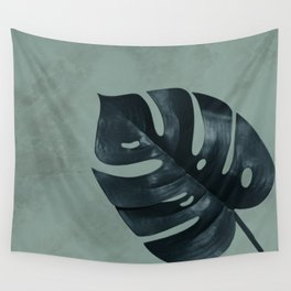 MONSTERA GREEN MARBLE Wall Tapestry