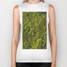 Pellucidar Sap Green Abstract Biker Tank