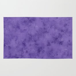 Watercolor Splattering in Ultra Violet (2018 Pantone color) Rug