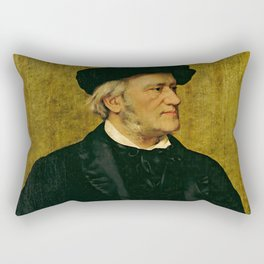 Richard Wagner (1813 – 1883) by Giuseppe Tivoli (b.1845) Rectangular Pillow