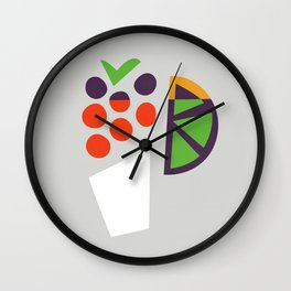 Berry Cocktail Wall Clock