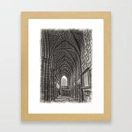Holyrood Abbey Ruins 2 Framed Art Print