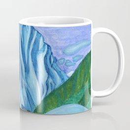 Snow peak above the clouds Coffee Mug