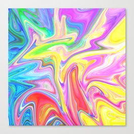 Gr00vy Waves Canvas Print