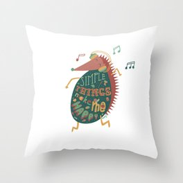 Simple Things Make Me Happy Throw Pillow