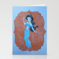 "jasmine Stationery Cards featuring ""Jasmine"" by Lizzy Chmielecki"