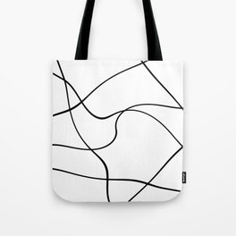 """""""Abstract lines"""" - Black on white Tote Bag"""