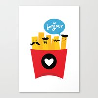 french fries Canvas Prints featuring French Fries by Reg Silva / Wedgienet.net