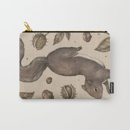 The Squirrel and Chestnuts Carry-All Pouch