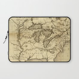 Great Lakes Map - 1737 Laptop Sleeve