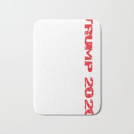 Trump 2020 American Flag Vintage Tee White Bath Mat