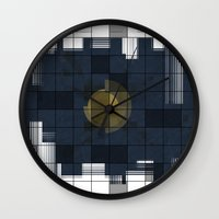 square Wall Clocks featuring Square by thinschi