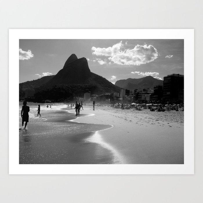 Ipanema's Beach, Rio de Janeiro Kunstdrucke