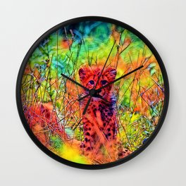AnimalColor_Cheetah_007_by_JAMColors Wall Clock