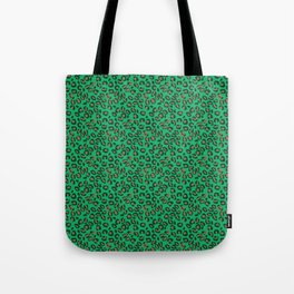 Greenery Green and Beige Leopard Spotted Animal Print Pattern Tote Bag