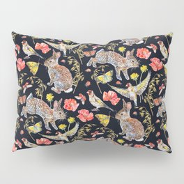 Bunny Meadow Pattern - Dark Pillow Sham