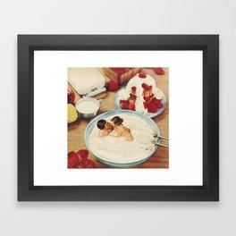 Fruity - Strawberries & Cream Framed Art Print