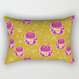 Oriental happy lucky cats Rectangular Pillow